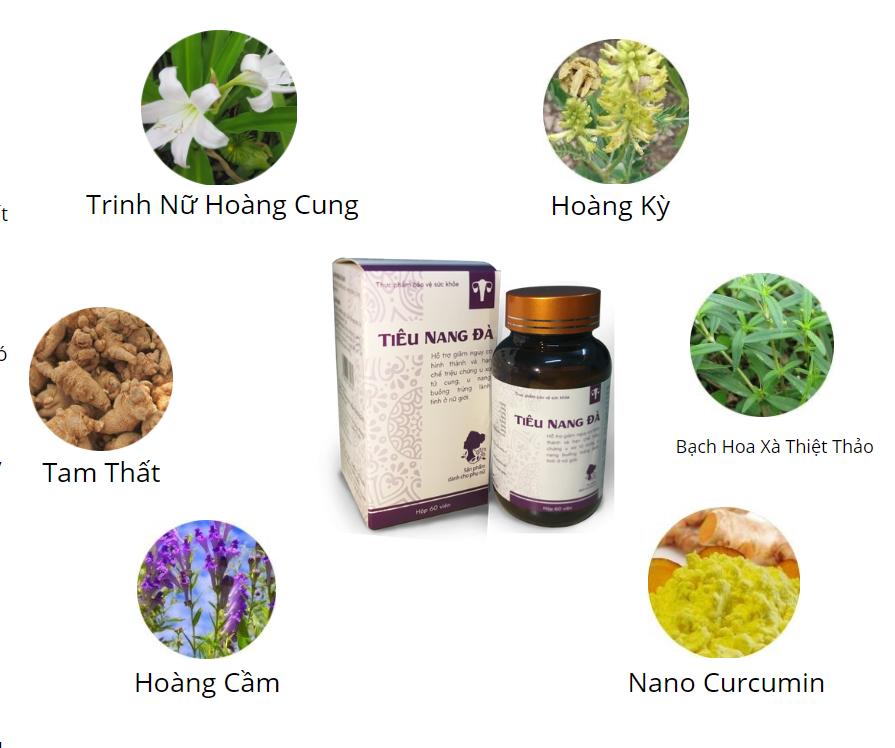 Tiêu Nang Đà được chiết xuất 100% từ bài thảo dược tự nhiên giành riêng cho người bị u xơ - u nang - đa nang