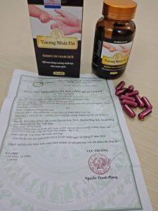 Giấy công bố chứng nhận của bộ y tế về sản phẩm Vương Nhất Đà